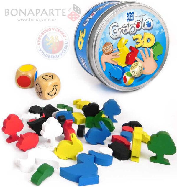 BONAPARTE Hra Grabolo 3D (voděodolné karty H2O) *SPOLEČENSKÉ HRY*