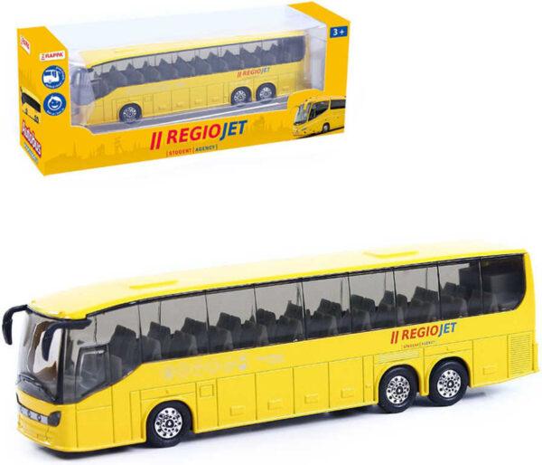 Autobus RegioJet žlutý 18