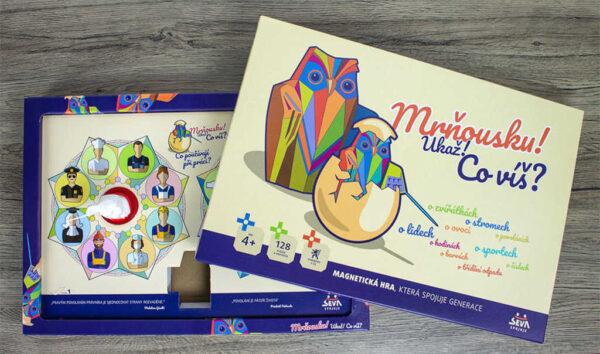 SEVA Hra magnetická vědomostní Mrňousku! Ukaž! co víš? *SPOLEČENSKÉ HRY*