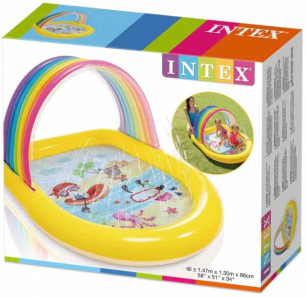 INTEX Baby bazének nafukovací se stříškou brouzdaliště s vodotryskem 57156