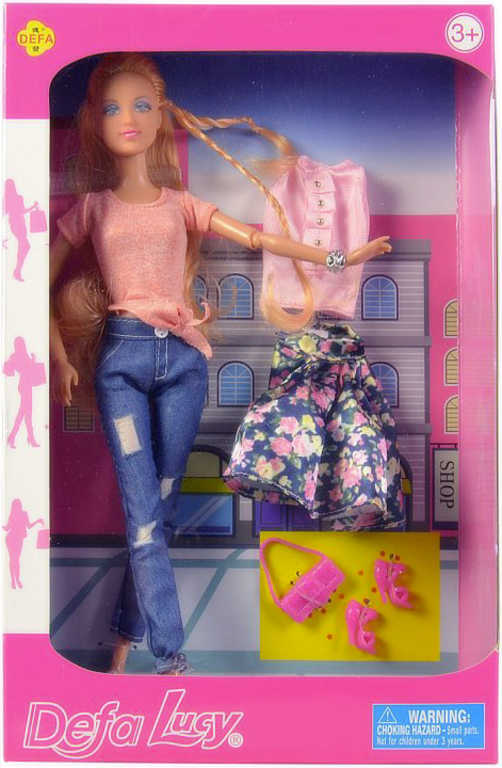 Defa panenka Lucy 30cm set s oblečením a doplňky 2 druhy v krabici