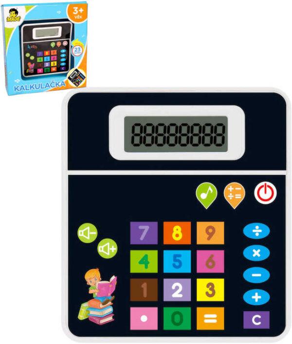 Kalkulačka dětská 23 tlačítek s melodiemi na baterie Zvuk plast