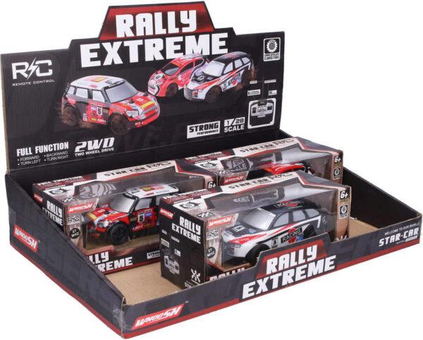 RC Auto rally 17cm na vysílačku 27MHz závodnička na baterie 3 druhy