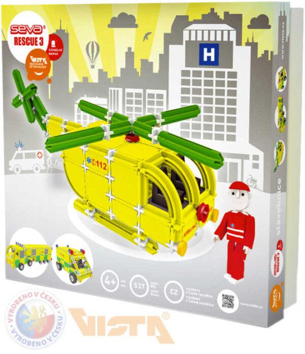 SEVA RESCUE 3 záchranáři polytechnická STAVEBNICE 537 dílků v krabici