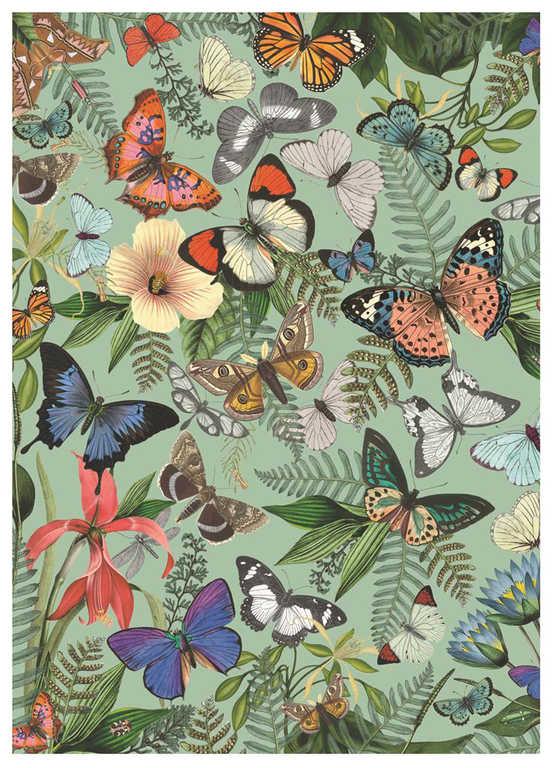 DINO Puzzle1000 dílků Motýlí louka foto 47x66cm skládačka