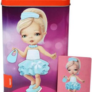 PUZZLIKA Baby puzzle magnetická skládačka Panenka set 45 dílků + 8 předloh
