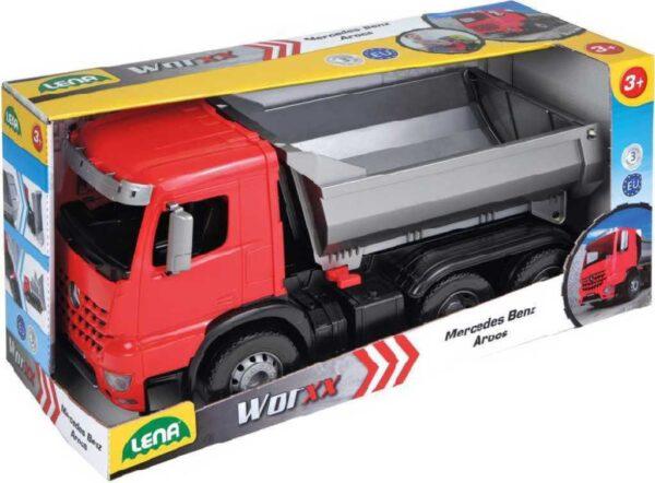 LENA Sklápěč funkční 46cm Worxx 1:15 Mercedes Arocs plast v krabici