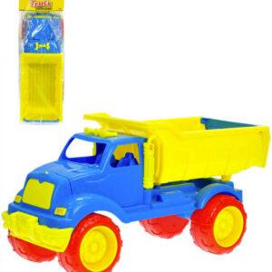 Baby auto nákladní 59cm barevná sklápěčka pro miminko plast v sáčku