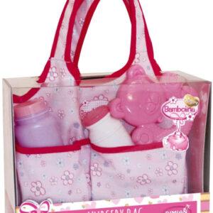 Taška kojenecká s doplňky pro panenku miminko Bambolina
