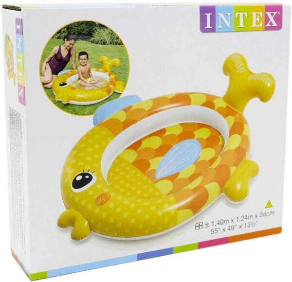 INTEX Baby bazének nafukovací zlatá rybka 140x124cm brouzdaliště 57111