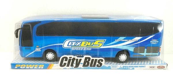 Autobus velký zájezdový na setrvačník 54cm plast 2 barvy