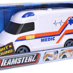 Teamsterz auto lékařské bílá ambulance na baterie Světlo Zvuk plast