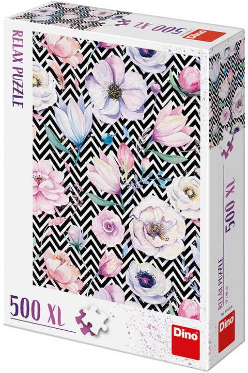 DINO Puzzle XL 500 dílků Květy relax 47x66cm skládačka