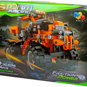Stavebnice Auto velká kola funkční set 284 dílků v krabici plast