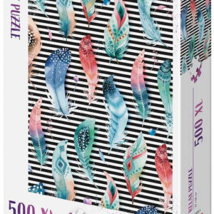DINO Puzzle XL 500 dílků Pírka relax 47x66cm skládačka