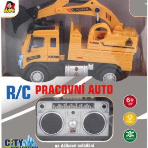 RC Auto bagr na vysílačku 27MHz na baterie 1:64 Světlo