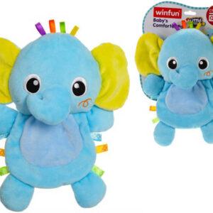 PLYŠ Baby sloník šustící 26cm pro miminko *PLYŠOVÉ HRAČKY*