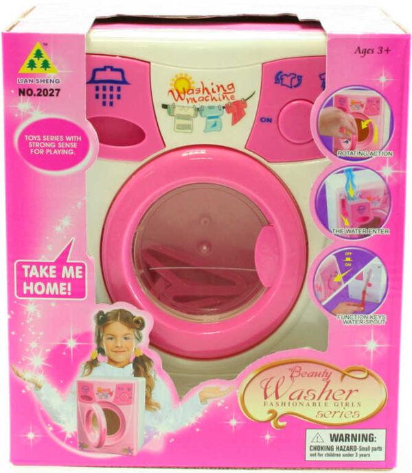 Pračka dětská na vodu otočný buben set se 2 ramínky na baterie