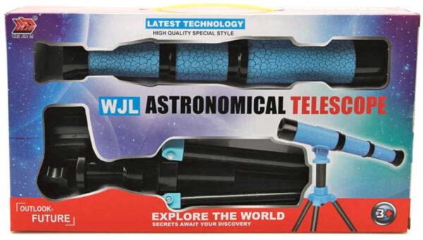 Teleskop dětský astronomický dalekohled hvězdářský 2 barvy v krabici