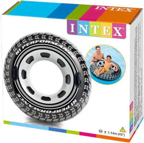 INTEX Kruh dětský nafukovací 114cm pneumatika plavací kolo s úchyty do vody 56268