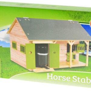 DŘEVO Stáj pro koně se 2 boxy 1:32 malý farmář *DŘEVĚNÉ HRAČKY*
